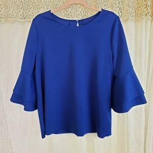 Lane Bryant Professional Bell Sleeve Top 0233